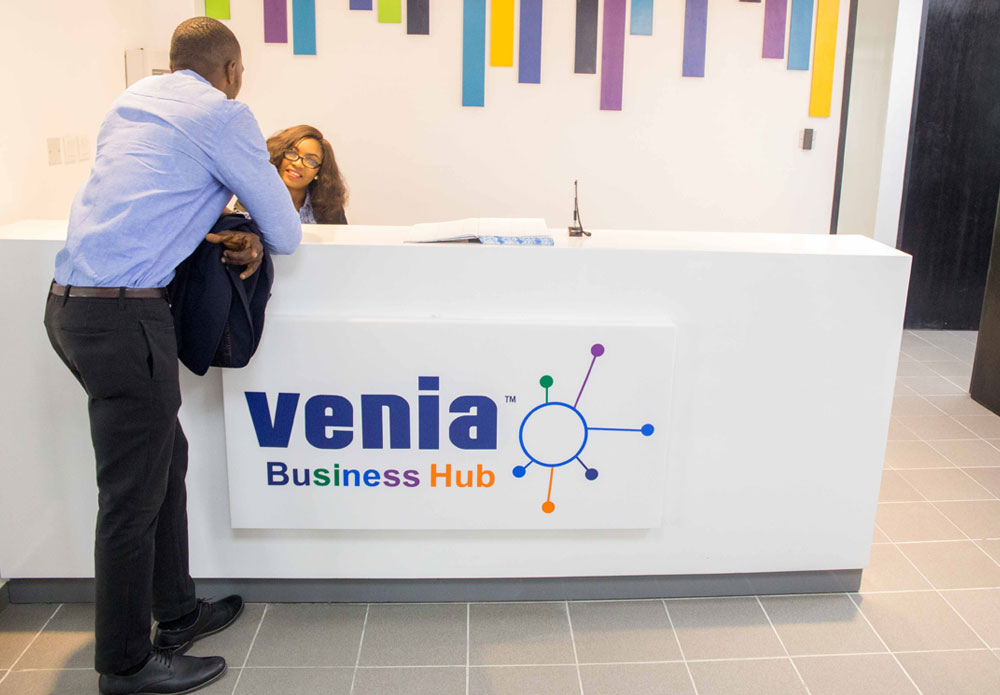 The Venia business hub front page