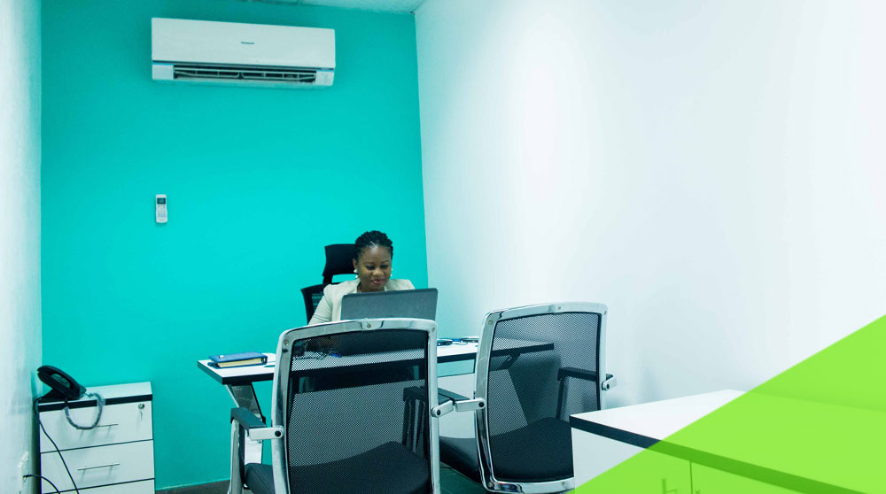 Individual using a serviced office space in Venia Business hub